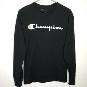 Champion men's small black long sleeve shirt